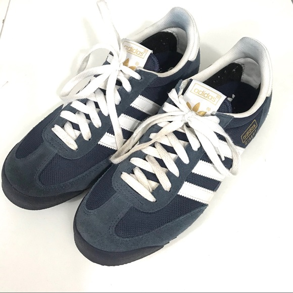 Adidas Dragon Sneakers Size 8 Navy Blue White